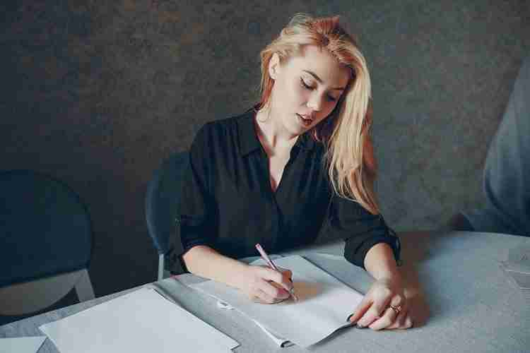 Career woman planning a successful career change